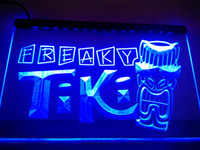 Wholesale Tiki Bar Sign Lighted - LM092-b Freaky Tiki Bar Mask Pub Beer Neon Light Sign.LED Light Sign