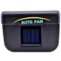 coche refrigerador ventilador auto al por mayor-DHL 20pcs 2v 0.3w Energía solar Auto / Aire fresco Aire acondicionado Ventilador refrigerador