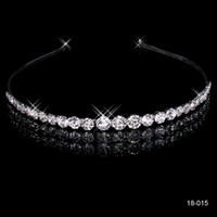 Wholesale Cheap Black Hair Clips - New Cheap Fashion New Style New Girls Headband Hair Clips Rhinestone Jewelry Silver Plated Crown 18015