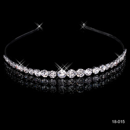 Wholesale Silver Celtic Hair Clip - New Cheap Fashion New Style New Girls Headband Hair Clips Rhinestone Jewelry Silver Plated Crown 18015