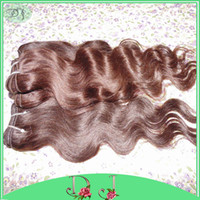 Wholesale Body Cart - Dyed Light Brown Human Hair Extension 7A grade Peruvian Body wavy 5pcs lot Soft Silky Texture Sexy Lady Beauty Shopping Cart Stock