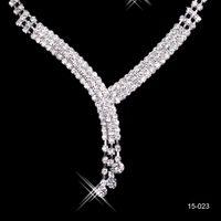 Wholesale Cheap Stone Earrings - 2016 Cheap 2014 Shinning Rhinestone Wedding Party Earring Bracelet Necklace Ring Jewel Set