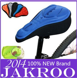 Wholesale Soft Gel Seat Cushion - Jakroo 3D Silicone Lycra Nylon & Gel Bike Bicycle Cycling Cycle Seat Saddle Cover, Ventilate Soft Cushion For All Bikes
