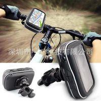 "Wholesale Waterproof Gps Motorcycle Mount - 4.3"" Waterproof GPS Phone SatNav Case Motorcycle Motorbike Bike Handlebar Mount Holder car"