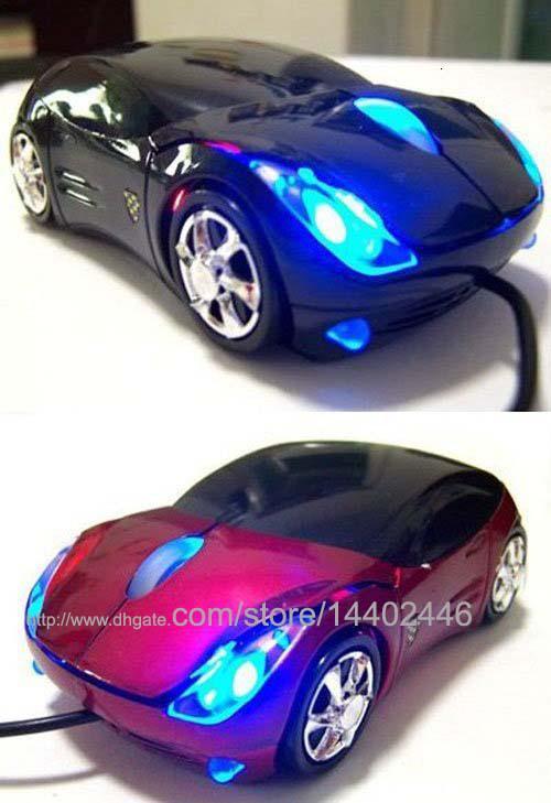 Hot Koop Beste prijs 50 stks / partij # 6 kleuren 3d auto vorm 800DPI USB-interface bedrade optische muis