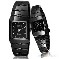 Marque Luxury Black Classic SINOBI Couple Lover Femme Homme Quartz Full Stainless Steel Wrist Watch Items