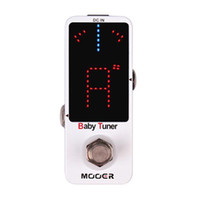 Wholesale Mooer Guitar - Mooer Baby Tuner A high precision tuning micro pedals, can be accurate to 1 points for seven string guitar or five string bass MU0525