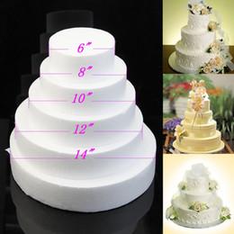 """Wholesale Round Cake Decorating - Free Shipping 6""""  8"""" 10"""" 12""""Round cake dummy styrofoam fake sugarcraft decorating flower modelling practice"""