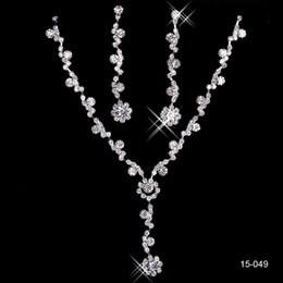 Ювелирные наборы из жемчуга онлайн-Элегантные свадебные украшения ожерелье сплав покрытием стразы жемчуг Кристалл комплект ювелирных изделий для свадьбы невесты невесты Бесплатная доставка в 15049