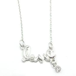 Silberne Liebesbrief-Anhänger-Halsketten-Perlen-Ketten Herz-förmige Anhänger-Strickjackeketten-Halskette geben Verschiffen frei von Fabrikanten