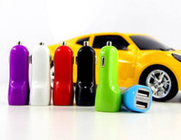 Wholesale Usb Car Charger Mini S3 - Dual USB Ports Trumpet buglet Mini Universal Dual USB Car Charger 5V 2.1A for Samsung S5 S4 S3 Note 3 2 Tablet PC HTC Blackberry Z10