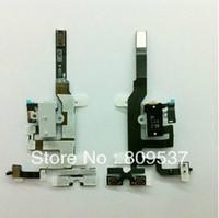 Wholesale Headphone Iphone 4s Original - Audio Headphone Jack Flex Cable for Apple iphone 4S 4GS Original New Black and White