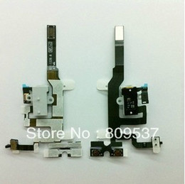 Wholesale Iphone 4s Cable Black - Audio Headphone Jack Flex Cable for Apple iphone 4S 4GS Original New Black and White