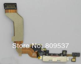 Flex Iphone 4s Original Canada - Dock Connector Charging Port Flex Cable Ribbon for Apple iphone 4S 4GS Original New Black White