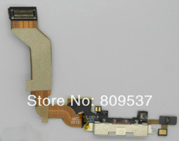 Wholesale Iphone 4s Charging Port Dock - Dock Connector Charging Port Flex Cable Ribbon for Apple iphone 4S 4GS Original New Black White