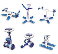 Wholesale Solar Powered Boat Kit - LJP705-11 Solar power 6 in 1 kit toy DIY educational powered Toys kits Cars Robot Boat