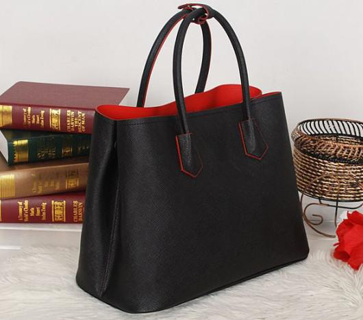 Women 2756 Saffiano Leather Tote Bag,Genuine Leather Handbags ...
