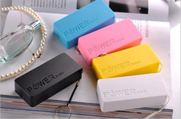 Wholesale Emergency Smartphone Charger - Wholesale - 5600 mAh Portable Power Banks External Emergency Backup Battery USB Universal Chargers Pack For Mobile Smartphone