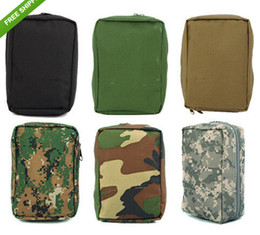 Wholesale Hunting Ammo - High Quality Airsoft Molle Ammo Gear First Aid Kit Tactical Medical Pouch Nylon Material bag for ourtdoor Wargame Hunting 6 Colors