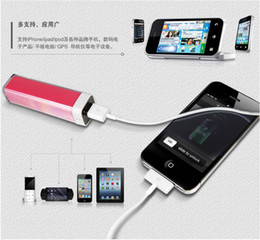 $enCountryForm.capitalKeyWord Canada - Wholesale! Lipstick power bank 2600 mah, digital product spare batteries, USB universal charger