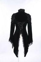 Wholesale Butterfly Clothes Women - rq-bl Gothic coat Clothing Women Spring Vintage Cotton Lace Swallow Coat 21119