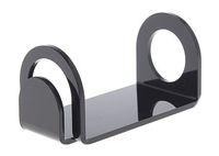 autohalter für e zigarette großhandel-Acryl e cig display stand regal schwarz weiß farbe auto halter rack box für dampf mech mod mechanische vape ecig ego vv evod e-zigarette DHL
