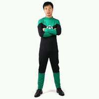 Wholesale Green Lantern Zentai - DC Universe Superhero Green Lantern Spandex Superhero Costume Halloween Cosplay Party Zentai Suit