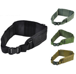 Wholesale High Quality Cummerbund - Airsoft Molle Tactical Combat Waist Padded Belt with H-shaped Suspender Adjustable High Quality Nylon Cummerbunds