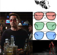 Wholesale Iron Man Sports Sunglasses - 2017 IRON MAN 3 Matsuda RAY TONY Sunglasses Men Mirrored Brand Glasses Vintage Sports Cycling Sun glasses Men Sports Retro Gafas