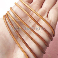 Wholesale Leather 2mm Round Brown - set of 25 meters 2mm Genuine Leather Strings Round Leather Cord Leather Strips Leather Straps LIGHT BROWN or specified