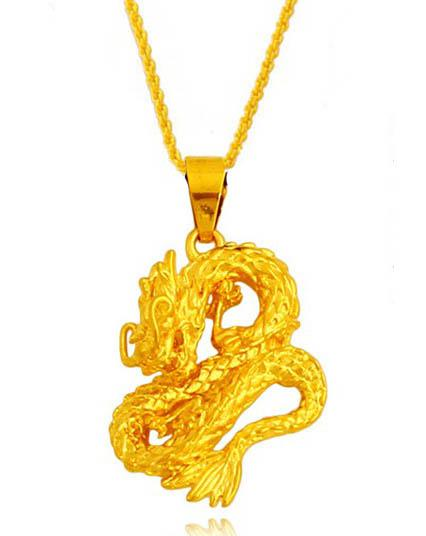 24k gold plated hover dragon pendant necklace , male marry statement chain for 2016 male collier jewelry