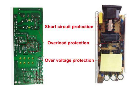 100 قطع جديد ac 100 فولت -240 فولت dc 12 فولت 5a محول الطاقة التموين 60 واط مع حماية ic ل شحن قطاع الصمام مع حماية ic