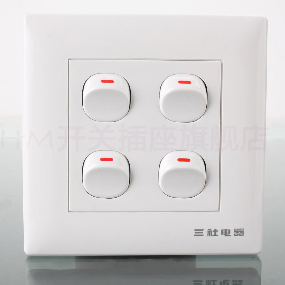 2018 Sansha Electric 86 Type Wall Switch Panel Power Outlet Blue ...