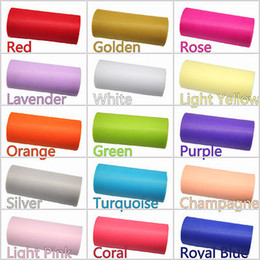 "Wholesale Decorated Tulle Rolls - TULLE Roll Spool 6""x25Y Tutu Wedding Gift Bow Craft Bridal Decorating 10 pcs"
