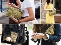 Wholesale Wholesale Suede Purses - Hot sale!500 sold out Dazzling Glitter Sparkling Bling Sequins Evening Party purse Bag Handbag Women Clutch wallet Makeup Bags 9Colours