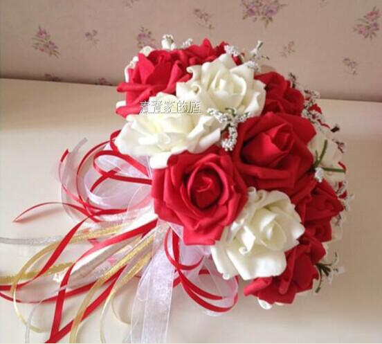 cheap flowers for wedding bouquet cheap wedding bouquet artifical silk flowers 2604