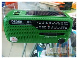 Canada Vente en gros - Récepteur radio monde d'urgence à dynamo solaire DEGEN DE13 FM AM SW Offre