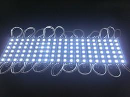 Wholesale Ip Lighting - 20pcs lot LED 6led module light lamp SMD 5050 IP 66 waterproof LED modules for sign letters LED back light 6 led 1.5W 90lm DC 12V