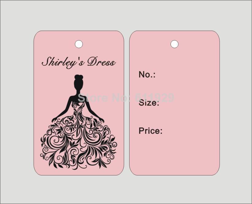 2017 Customized Clothing Wedding Dress Hang Tags/Swing Tags ...