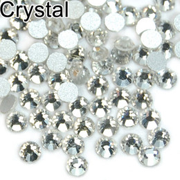 Wholesale High Quality Rhinestones Nail Art - 1440pcs High Quality Crystal FlatBack Non-Hot Fix Rhinestones Nail Art SS4 SS5 SS6 SS8 SS10 SS12 SS16 SS20