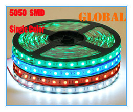 Wholesale 12v Decorations For Cars - 5 Meter LED strip light ribbon 300leds M SMD 5050 non-waterproof DC 12V White Warm White Red Green Blue Yellow Christmas Decoration For Car