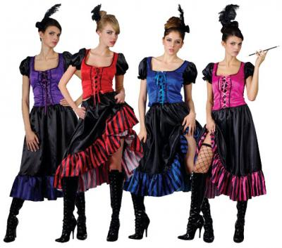 saloon girl womens sexy can can dancer western halloween costume stdplus sizes zt8544 best group costumes childrens costumes from partytimecostume - Can Can Dancer Halloween Costume