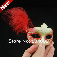 Wholesale Masks Fancy - sexy mini feather mask cute birthday gift fancy mask masquerade ball decoration novlety wedding favor 100pcs lot free shipping