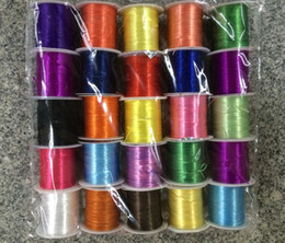 Wholesale Jewelry Beads Cheap For Bracelets - Candy Multiple colors elastic string cord DIY jewelry Wire for beads bracelet cheap Jewelry DIY components