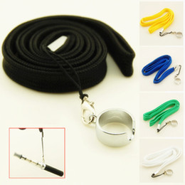 Ego Battery Lanyards NZ - New EGO Necklace Lanyard for eGo-t c EGO E Cigarette Ecig Neck Sling battery ce4 clearomizer 15 kind color Different Colors
