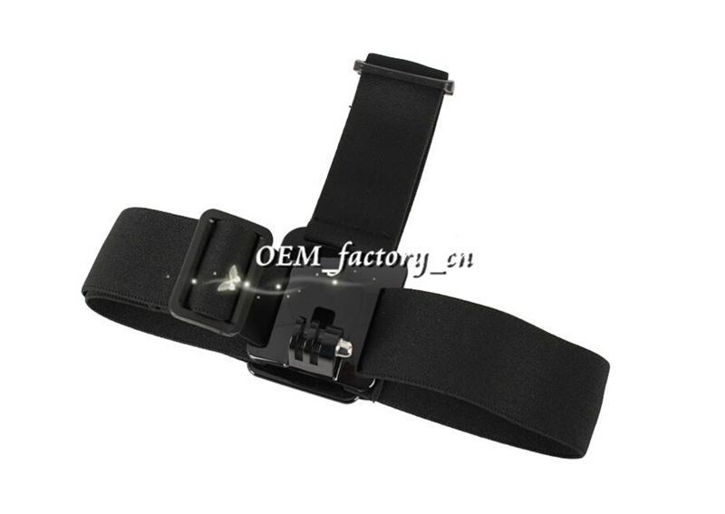 GoPro Accessories Elastic Adjustable Camera Nylon Head Strap Mount Sport DivingSkiHead Band BeltAdapter for GoPro HD Hero1 2 3