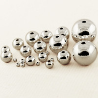 Wholesale 925 sterling silver beads mm Round silver smooth ball silver charms spacer loose beads