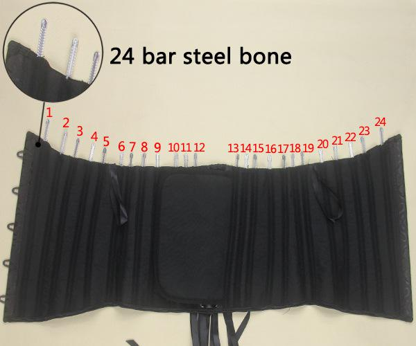 24 Corsets de formation de formateur / formateur à la taille, os en acier, Body Shaper, Corset sous-buste, taille plus cincher, taille noire / blanc / kaki