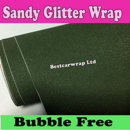 Chinese  Army Green military Glitter Vinyl Car wrap sparkle Film Air Bubble Free For vehicle decoration Stickers 1.52x30m Roll 5x98ft manufacturers