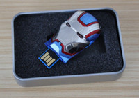 Wholesale Led Stick Customized - Customized acceptable 64GB 128GB 256GB USB 2.0 CAPTAIN AMERICA Flash Drive Memory Stick With Blue LED for 12 months warranty